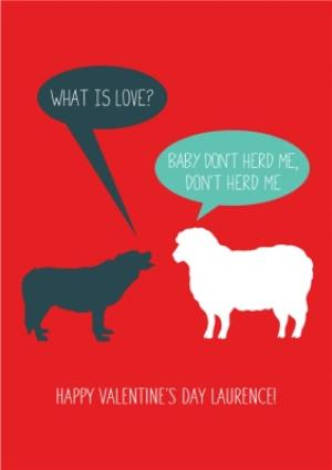 Greeting Cards - Baby Dont Herd Me Personalised Valentines Card - Image 1