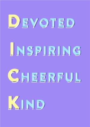 Greeting Cards - Devoted Inspiring Cheerful Kind Personalised Greetings Card - Image 1