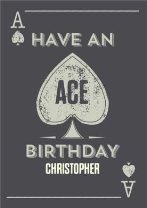 Greeting Cards - Ace Of Spades Style Personalised Birthday Card - Image 1