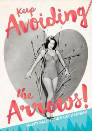 Greeting Cards - Avoid The Arrows Personalised Card - Image 1