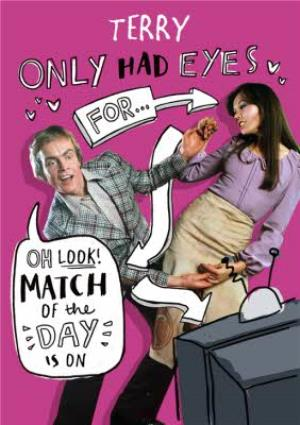 Greeting Cards - Funny Oh The Match Of The Day Is On Funny Valentines Day Card - Image 1