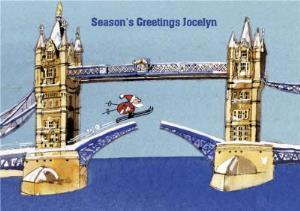 Greeting Cards - Almanac Gallery Personalised Seasons Greetings Card - Image 1