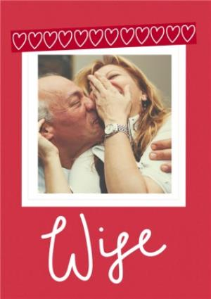 Greeting Cards - A Little Note Wife Photo Upload Card - Image 1