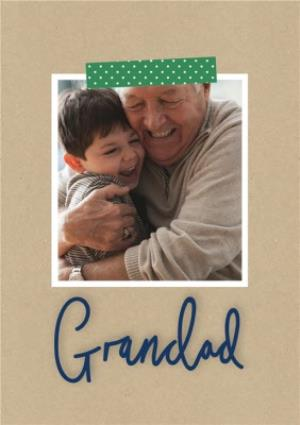 Greeting Cards - Father's Day card -Grandad - photo upload - Image 1