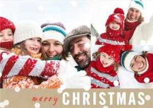 Greeting Cards - Collage Style Photo Upload Christmas Card - Image 1