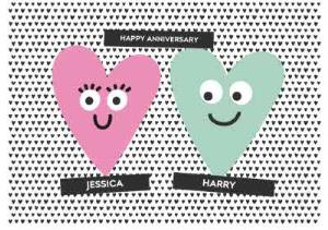 Greeting Cards - Anniversary Card - Love Hearts - Happy Anniversary - Image 1