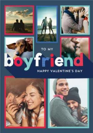 Greeting Cards - Boyfriend Photo Upload Personalised Valentine's Day Card - Image 1