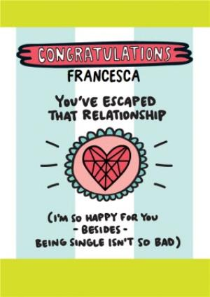 Greeting Cards - Congratulations on your divorce Card  - Image 1