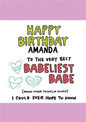 Greeting Cards - Babeliest Babe Birthday Card  - Image 1