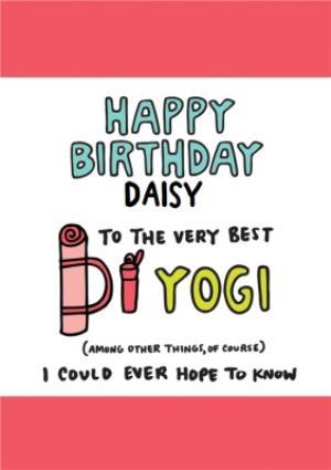 Very Best Yogi Birthday Card