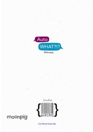 Greeting Cards - Auto What?!? Feeling Sick Typo Personalised Card - Image 4