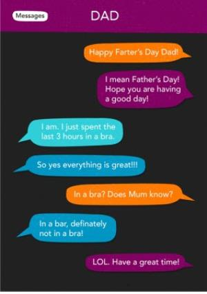 Text Message Funny Fathers Day Card Moonpig