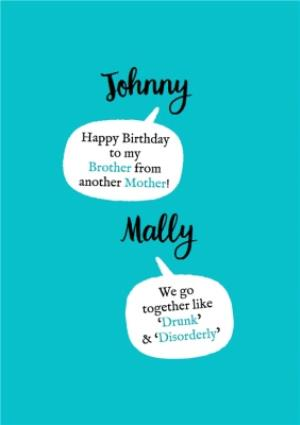 Greeting Cards - Brother From Another Mother Birthday Card - Image 1