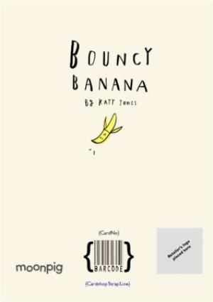 Greeting Cards - Bouncy Banana All I Want For Christmas Personalised Card - Image 4