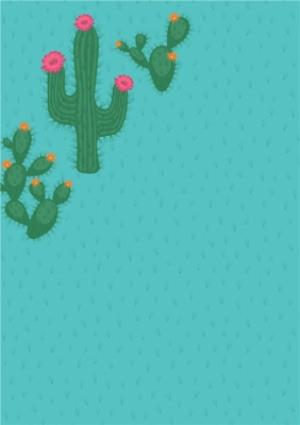 Greeting Cards - Cacti Photo Upload And Personalised Text Card - Image 2