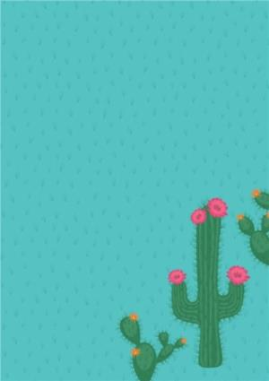 Greeting Cards - Cacti Photo Upload And Personalised Text Card - Image 3