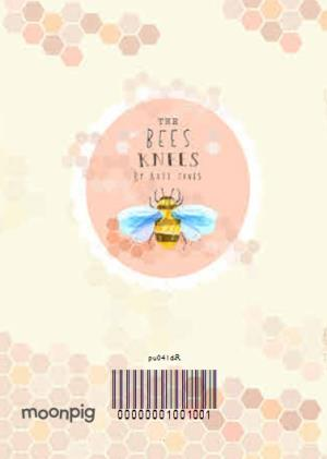 Greeting Cards - Bees And Flowers Personalised Photo Upload Birthday Card For Mum - Image 4