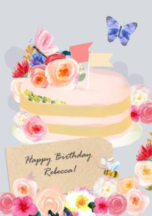 Greeting Cards - Birthday Cake Greeting Card - Image 1
