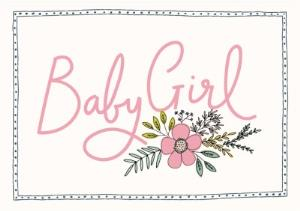 Greeting Cards - Bees Knees Baby Girl Card - Image 1