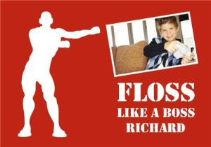 Greeting Cards - Birthday Card Photo Upload Floss Floss Like A Boss - Image 1