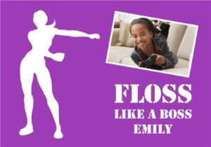 Greeting Cards - Birthday Card Photo Upload Floss Like A Boss - Image 1
