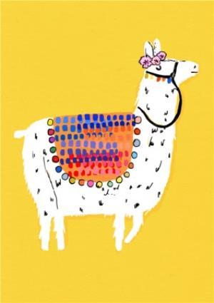 Greeting Cards - Graphic Alpaca Personalised Happy Birthday Card - Image 1
