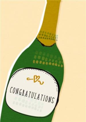 Greeting Cards - Classic Champagne Bottle Personalised Congratulations Card - Image 1