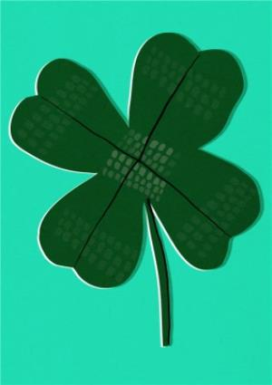 Greeting Cards - Boogaloo Four-Leaf Clover Good Luck Card - Image 1