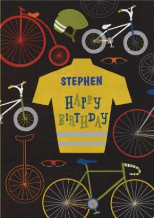 Greeting Cards - Bike Enthusiast Personalised Happy Birthday Card - Image 1