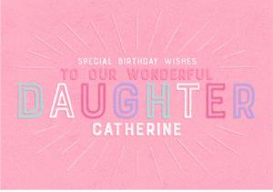 Greeting Cards - Birthday Card - Daughter - Image 1