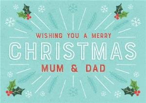 Greeting Cards - Christmas Card - Mum and Dad - Merry Christmas - Image 1
