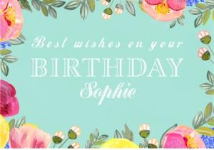 Greeting Cards - Female Birthday Card - floral - traditional - Image 1