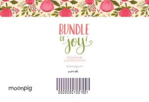Greeting Cards - Bundle Of Joy Personalised Floral Background Personalised Card For New Baby Girl - Image 4