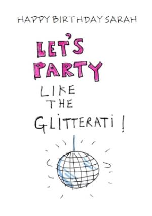 Greeting Cards - Birthday Card - Let's Party - Glitterati - Disco Ball - Illustration - Image 1