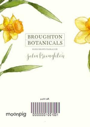 Greeting Cards - Bright Yellow Daffodil Flowers Personalised Card - Image 4