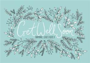 Greeting Cards - Botany Personalised Get Well Soon Card - Image 1