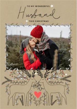 Greeting Cards - Christmas Card - Photo Upload - Husband - Wonderful Husband - Image 1