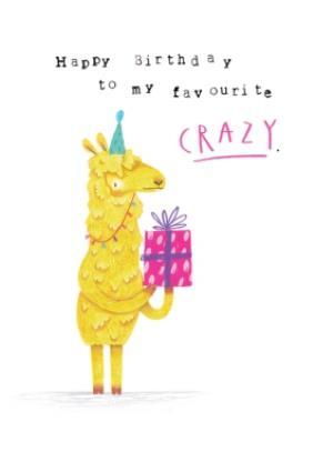 Greeting Cards - Animal birthday card - llama - Image 1