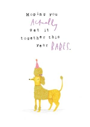 Greeting Cards - Animal birthday card - poodle - Image 1
