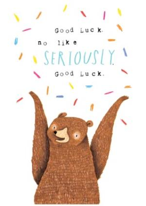 Greeting Cards - Animal birthday card - grizzly bear - good luck card - Image 1