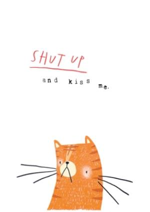 Greeting Cards - Animal valentine's day card - kiss me - cat - quick card - Image 1