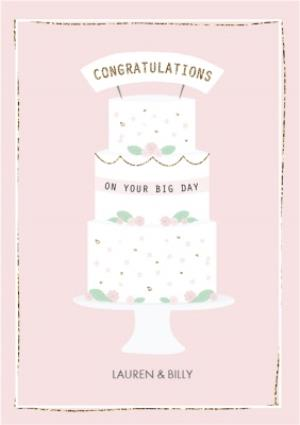Greeting Cards - Congratulations On Your Big Day Wedding Card - Image 1