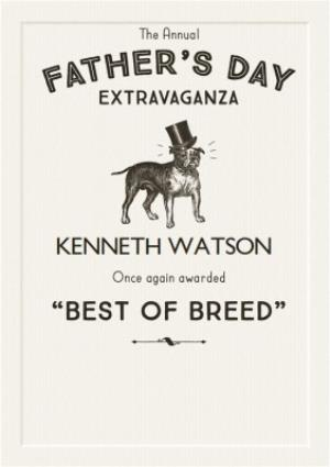 Greeting Cards - Best Of Breed Happy Fathers Day Card - Image 1