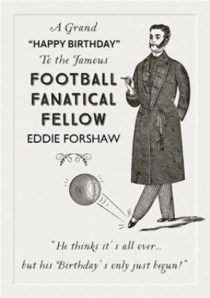 Greeting Cards - Cartouche Football Fanatic Birthday Card  - Image 1