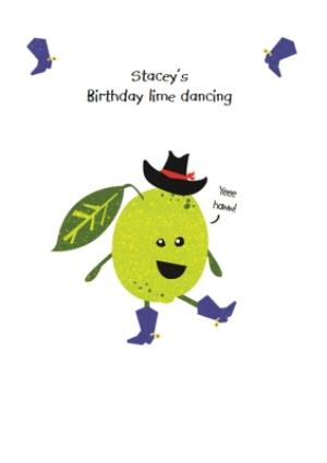Greeting Cards - Birthday Lime Dancing Pun Card - Image 1
