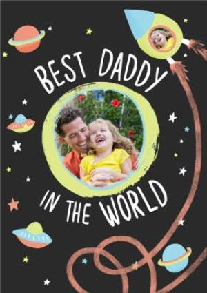 Greeting Cards - Best Daddy In The World Photo Upload Card - Image 1