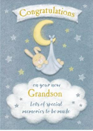 Greeting Cards - Cute Grandson Card - Congratulations - Image 1