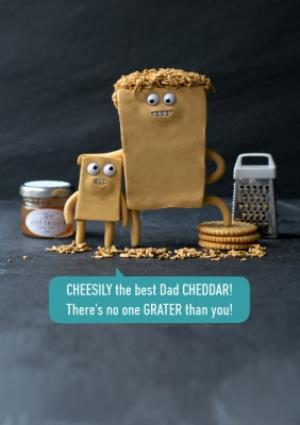 Greeting Cards - Cheese Pun Fathers Day Card - Image 1