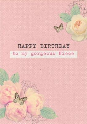 Bright Pink Roses Happy Birthday Niece Card Moonpig