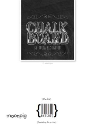 Greeting Cards - Chalkboard Letters Personalised Happy 90th Birthday Card - Image 4